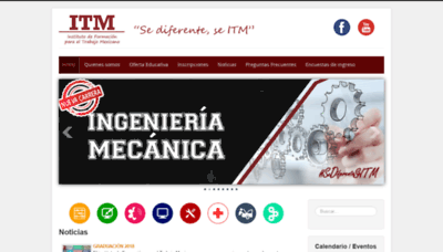 What Itm.edu.mx website looked like in 2020 (This year)