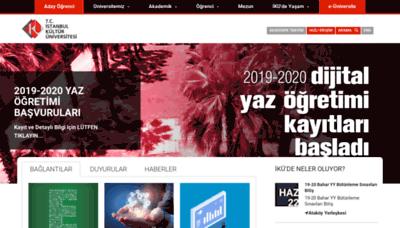 What Iku.edu.tr website looked like in 2020 (1 year ago)