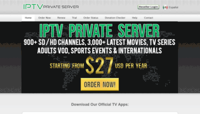 What Iptvprivateserver.tv website looked like in 2020 (1 year ago)