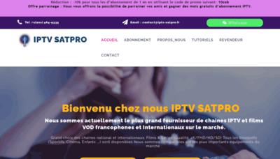 What Iptv-satpro.fr website looked like in 2020 (1 year ago)