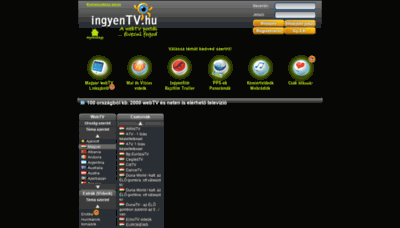 What Ingyentv.hu website looked like in 2020 (This year)