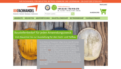 What Ibk-fachhandel.de website looked like in 2020 (This year)