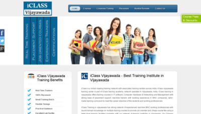What Iclasstrainingvijayawada.in website looked like in 2020 (This year)