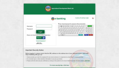 What Ibanking.adbl.gov.np website looked like in 2020 (This year)