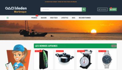 What Isleden.mq website looks like in 2021