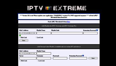 What Iptvextreme.eu website looks like in 2021