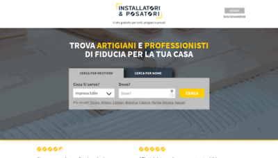 What Installatorieposatori.it website looks like in 2021