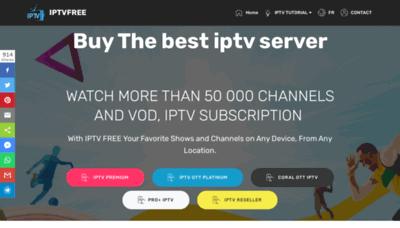 What Iptvfree.vip website looks like in 2021