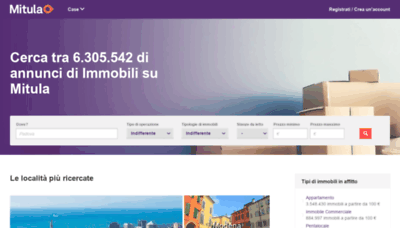 What Immobiliare.mitula.it website looks like in 2021