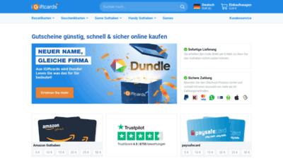 What Igiftcards.de website looks like in 2021