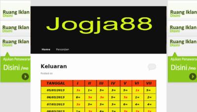 What Jogja88.net website looked like in 2013 (8 years ago)