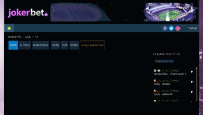 What Jokerbet.tv website looked like in 2018 (3 years ago)