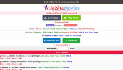 What Jalshamovies.net website looked like in 2018 (3 years ago)