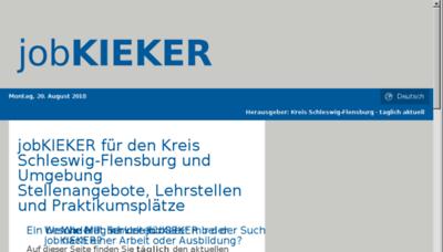 What Jobkieker.de website looked like in 2018 (3 years ago)