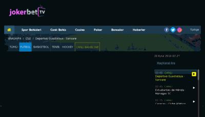 What Jokerbet.tv website looked like in 2018 (2 years ago)