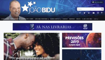 What Joaobidu.com.br website looked like in 2019 (2 years ago)
