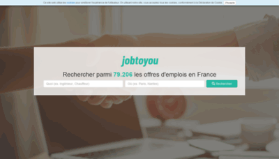 What Jobtoyou.fr website looked like in 2019 (2 years ago)