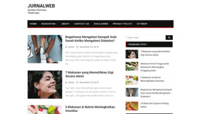 What Jurnalweb.me website looked like in 2019 (1 year ago)