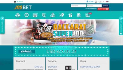 What Josbet88.net website looked like in 2020 (1 year ago)