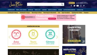 What Joaobidu.com.br website looked like in 2020 (1 year ago)