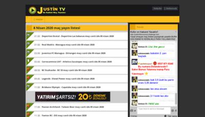 What Justintvizlesene.co website looked like in 2020 (1 year ago)