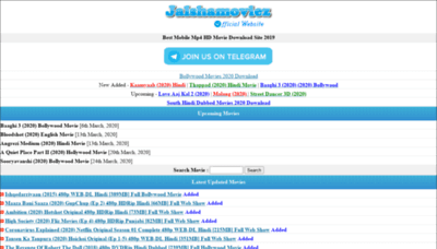 What Jalshamoviezhd.buzz website looked like in 2020 (This year)