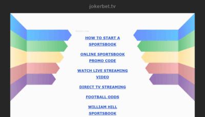 What Jokerbet.tv website looks like in 2021