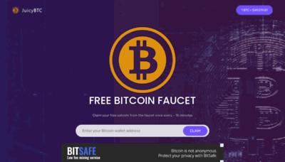 What Juicybtc.net website looks like in 2021