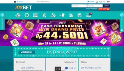 What Josbet88.net website looks like in 2021