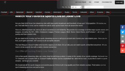 What Jokerlivestream.net website looks like in 2021