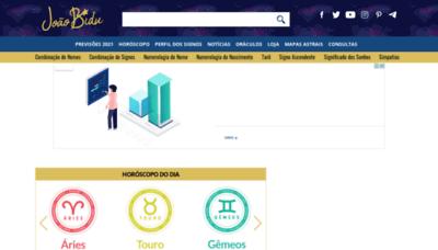 What Joaobidu.com.br website looks like in 2021