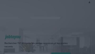 What Jobtoyou.fr website looks like in 2021