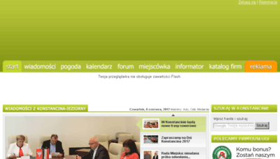 What Konstancin24.eu website looked like in 2017 (4 years ago)