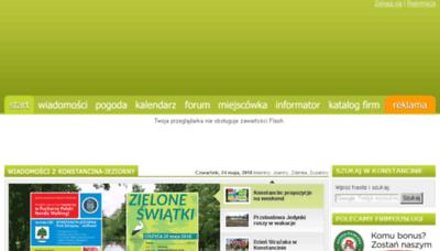 What Konstancin24.eu website looked like in 2018 (3 years ago)