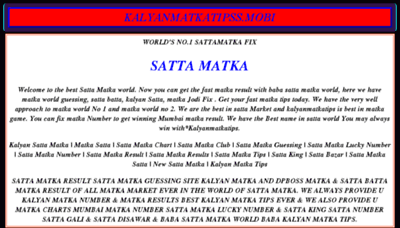 What Kalyanmatkatipss.mobi website looked like in 2018 (2 years ago)