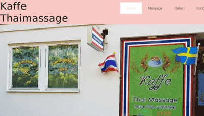 What Kaffethaimassage.se website looked like in 2018 (3 years ago)