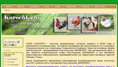 What Kurochka.by website looked like in 2018 (2 years ago)