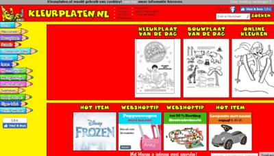 What Kleurplaten.nl website looked like in 2018 (2 years ago)
