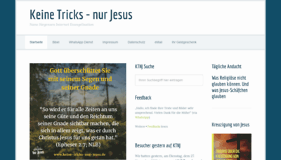 What Keine-tricks-nur-jesus.de website looked like in 2018 (2 years ago)