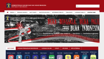 What Kemenkumham.go.id website looked like in 2018 (2 years ago)
