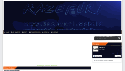 What Kazefuri.web.id website looked like in 2019 (1 year ago)