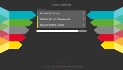 What Kickass-torrent.to website looked like in 2019 (1 year ago)