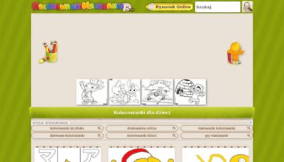 What Kolorowankimalowanki.pl website looked like in 2019 (1 year ago)