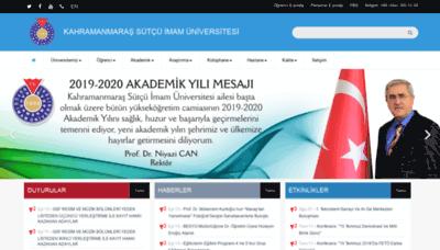 What Ksu.edu.tr website looked like in 2019 (2 years ago)