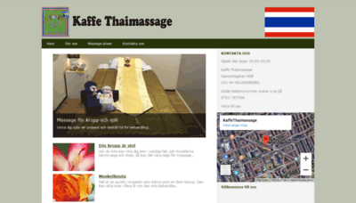 What Kaffethaimassage.se website looked like in 2019 (1 year ago)