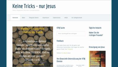 What Keine-tricks-nur-jesus.de website looked like in 2019 (1 year ago)