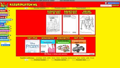 What Kleurplaten.nl website looked like in 2019 (1 year ago)