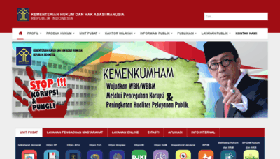 What Kemenkumham.go.id website looked like in 2020 (1 year ago)