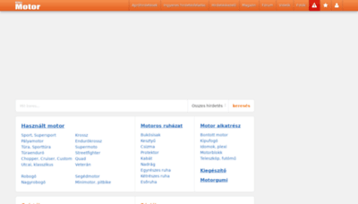 What Kepesmotor.hu website looked like in 2020 (1 year ago)