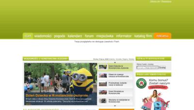 What Konstancin24.eu website looked like in 2020 (1 year ago)